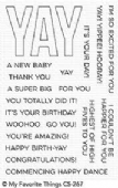 MFT Clear Stamps - Yay For You - CS-287